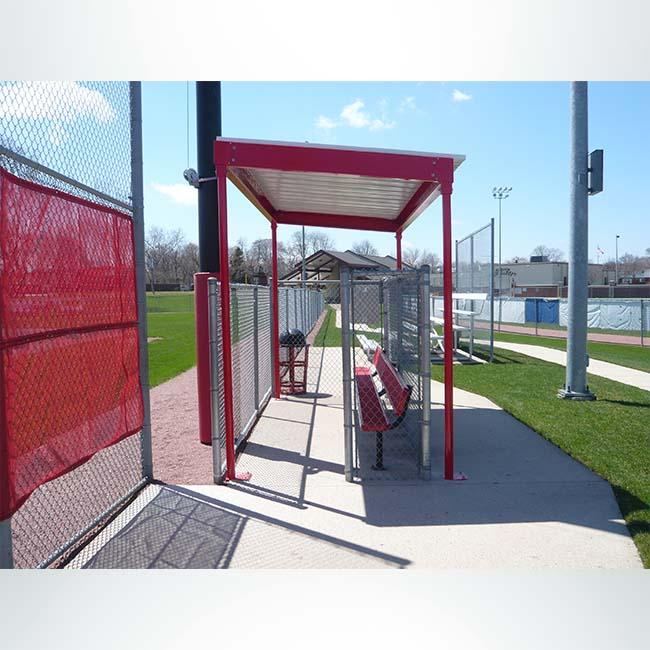 Model #DG10. Softball and baseball dugout.