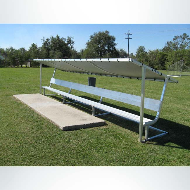 Model #GBAP15BCV. 15' Covered Athletic Team Bench.