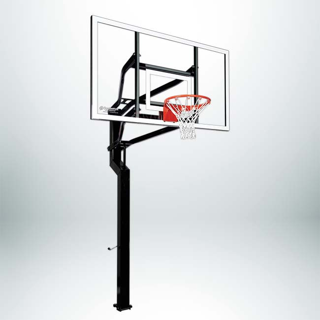 "MVP Adjustable Basketball Hoop with 72"" Backboard and 6"" Basketball Pole."
