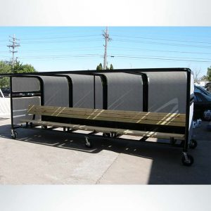 Model #PPS16BOX.16' Deluxe Box Style Heavy Duty Team Shelter with Wood Bench, Packed for Shipment.