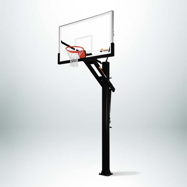 "Model #PROFORCE672 Proformance inground Adjustable Basketball Hoop with 6"" Pole and 72"" Backboard."