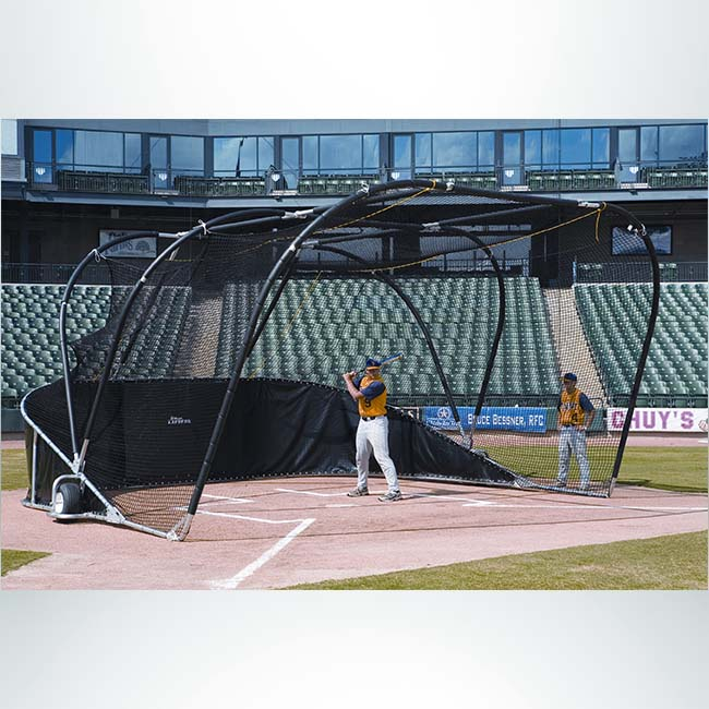 Model #BCBIGBUBBAELITE. Portable baseball batting cage.