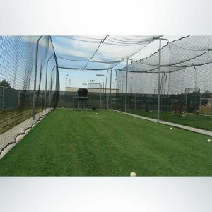 Model #BCMODOUTDOOR70P. Inside View of Outdoor Modular Batting Cage.