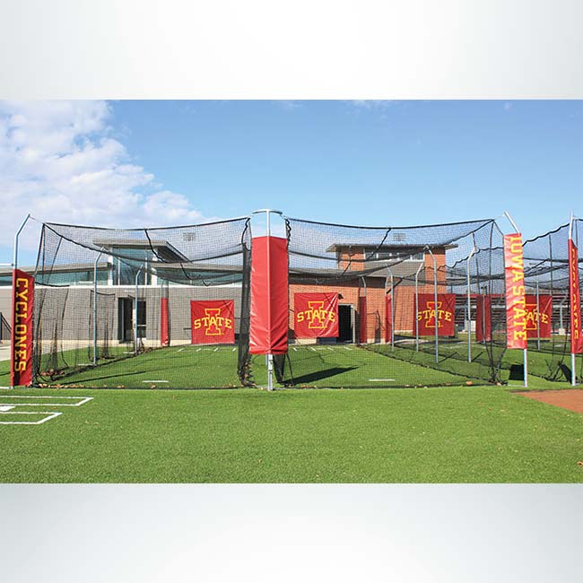 Model #BCMODOUTDOOR70PD. Double Outdoor Modular Batting Cage.