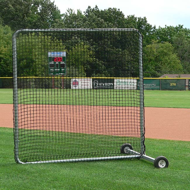Model #BCPROIN. 7' x 7' infield screen for baseball and softball.