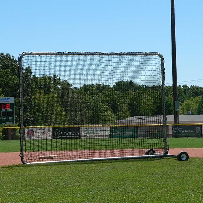 Model #BCPROSHAGGER. 7' x 10' infield screen for baseball and softball.