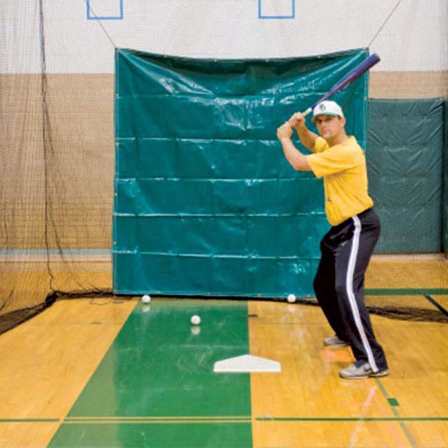 "Model #BCPROT. 7'6"" x 7'6"" vinyl batting cage net protector."
