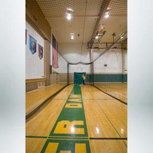 Model #BCTEN70IN. Indoor Tension Batting Cage with Hitter.