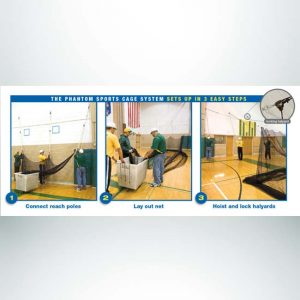 Model #BCTEN70IN. Indoor Tension Batting Cage for Baseball and Softball Setup Instructions.