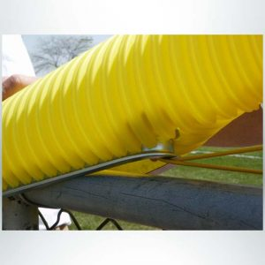Model #FCZIP. Fence Can Zipper Tool on Fence Cap in Use.