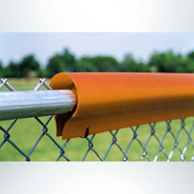 Model #FENCEG50STANDARD. Standard fence guard. Orange with polyethylene to cover rough edges on chain link fence.