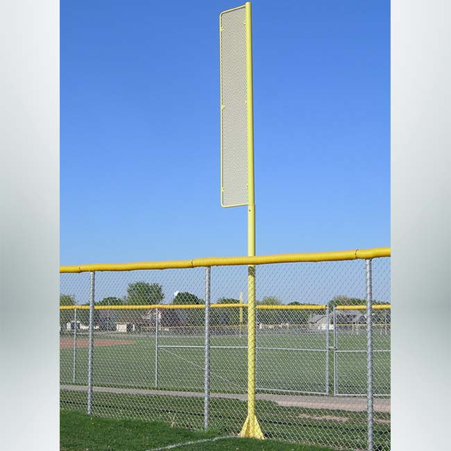 Model #FLP. 20vs Softball foul pole, 20ft, yellow
