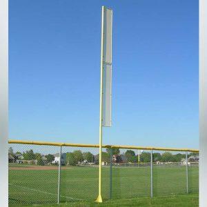 Model #FLP30VS. 30' yellow baseball foul pole.