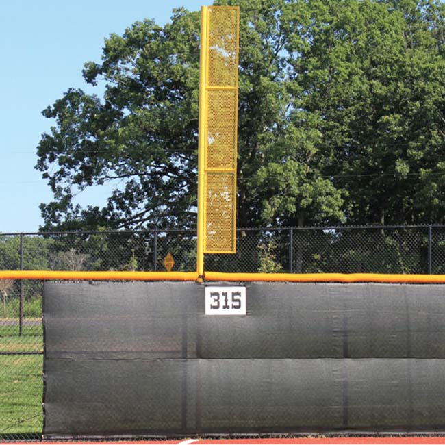 Model #FPST12 .Standard Foul Poles for Baseball and Softball Fields.