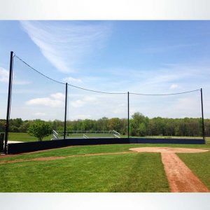 Back-Up Net and Custom Wall Pad for Baseball Field.