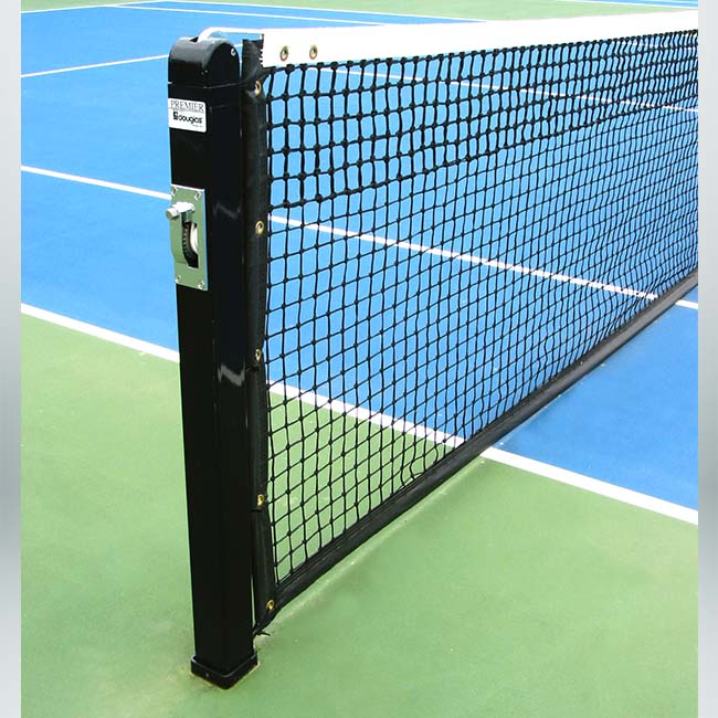 Model #KGPREMIERRD. Black Square Tennis Post.