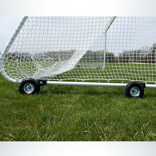 Model #PW4. Wheel kit on MAL goals shown with wheels raised.