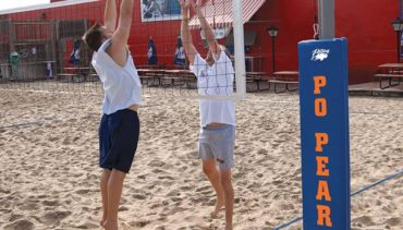 Model #SVB5000. Matchpoint outdoor volleyball system.