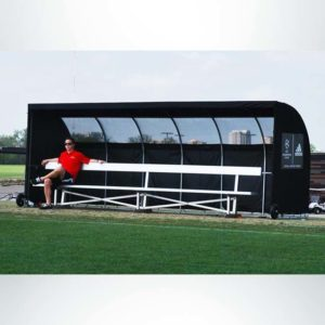 Model #SW1000176. Economy Team Shelter in Black with Windows for Soccer and Lacrosse Teams.