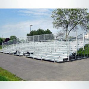 Model #10BR25A1GRWCS. 10 row 25' aluminum bleachers with handicap cutout.