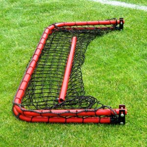Model #ALUM42. Red 4' x 2' Folding Aluminum Soccer Goal.