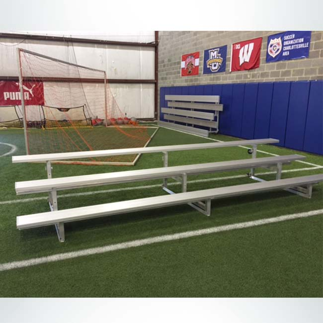 Model #B3153. 3 Row Tip and Roll Aluminum Bleacher.