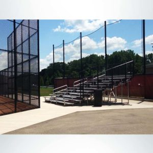 Back-Up Netting for Behind Bleachers.