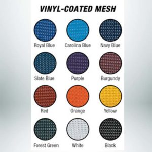 Custom windscreen colors vinyl coated mesh.