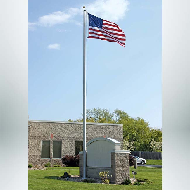 Model #EC20. Heavy duty flagpole.