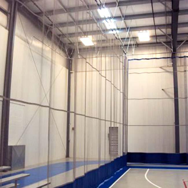 Flexinet around basketball court.