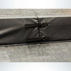 Model #FSP12. Black portable padding boundary attachment system.