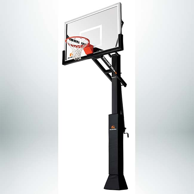 "Model #GOALRILLSCV60. Goalrilla 60"" Backboard Basketball System with Pad."