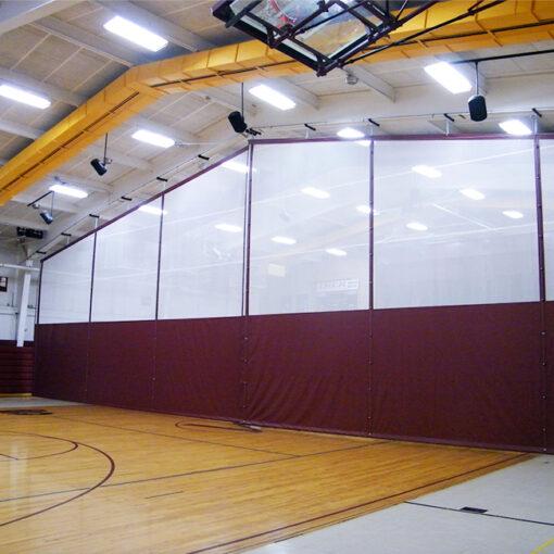 Gym dividers. Standard mesh.