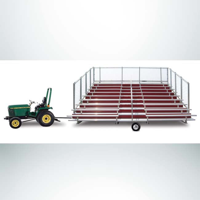 Model #HW2. Hitch and Wheel Bleacher Kit for JWI Aluminum Bleachers.