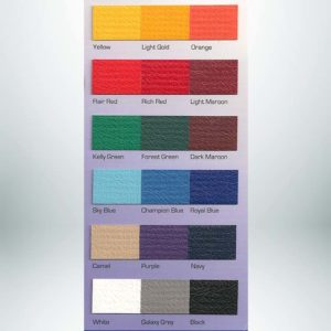 Indoor Padding for Athletic Facilities Color Card.