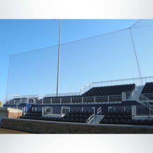 Tie Back Netting in Baseball Stadium. Provides Protection with Minimal Blocking of Sight Lines.