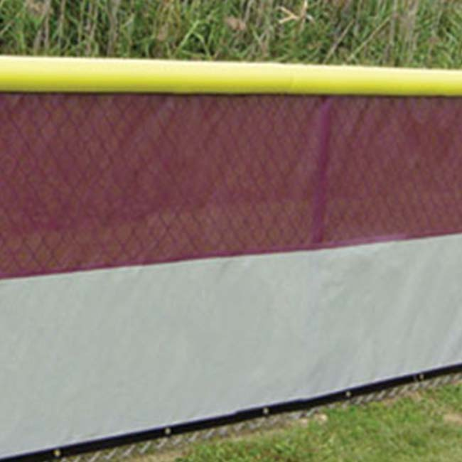 Maroon and gray windscreen.