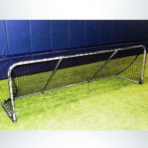 Folding aluminum soccer goal.