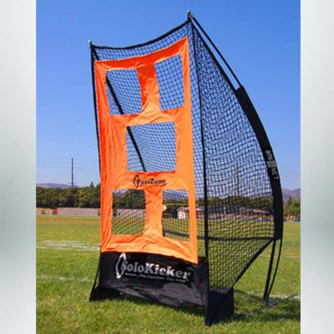 Model #BNSOLOKICKER. Bownet solo kicker with targets to practice punting and kicking.