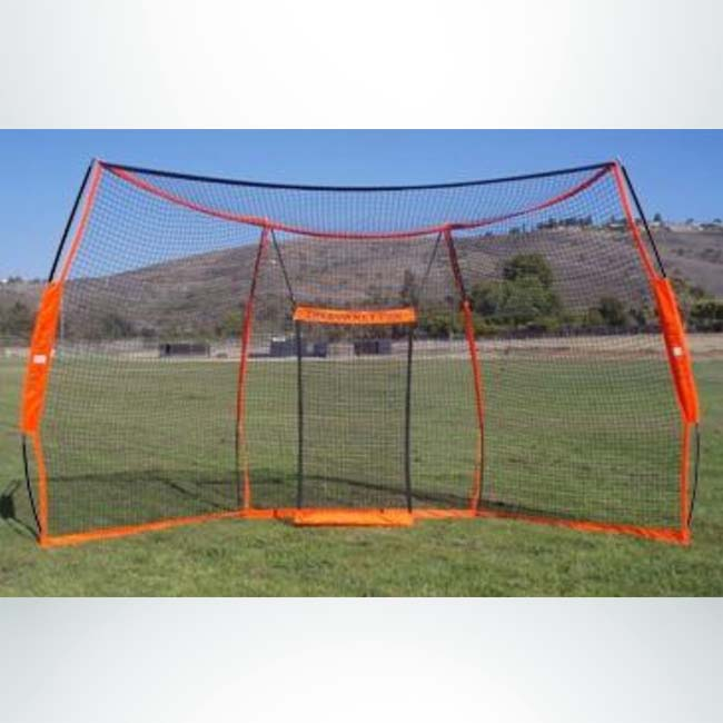 Model #BOWBACKSTOP. Bownet Portable Baseball Backstop Net.