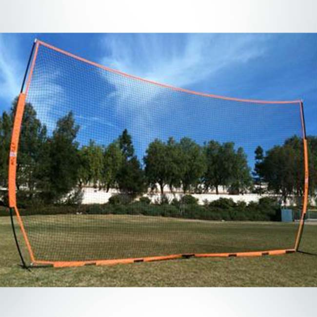 "Model #BOWBARRIERLARGE. Bownet large portable barrier net. 21'6"" x 11'6""."