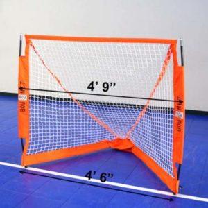 Model #BOWLAXBOX4. Bownet foldable box lacrosse goal. 4.6' x 4'.