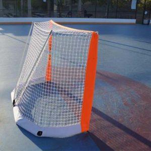 Model #BOWROLLERHOCBAG. Bownet goal roller hockey goal 6' x 4'.