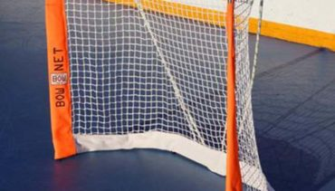 Model #BOWSTREETHOC. Foldable Bownet Street Hockey Goal. Fits in a Bag.