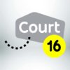 Court 16 C16 Logo Colors Lockup RGB 2 Logo
