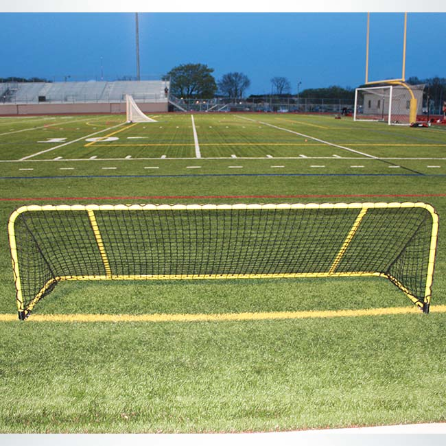 Custom yellow aluminum training goal.