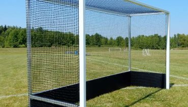 Model #FHG32ALPB. Pro Field Hockey Goals with Poly Boards and Wheels.
