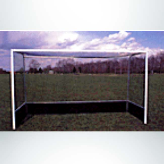 Model #FHGBAL712WB. Budget field hockey goal with wood board.