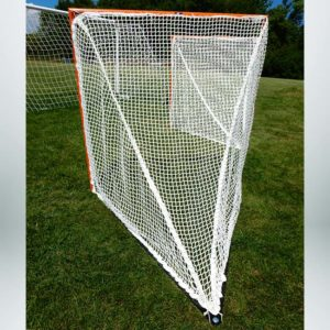 Model #LXGPROBOX. 4' x 4' x 5' official lacrosse goal with lacing back bar.