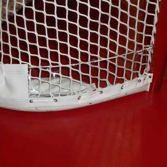Model #RS NHL net protector, white, red